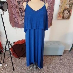 Mossimo XXL blue hi lo spaghetti strap dress EUC